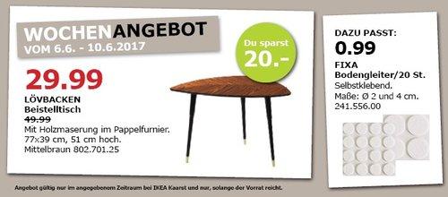 IKEA LÖVBACKEN Beistelltisch, 77x39 cm, 51 cm hoch, mittelbraun - jetzt 40% billiger