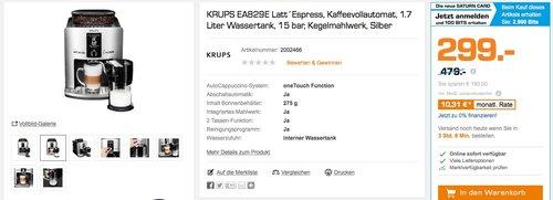 KRUPS EA829E Kaffeevollautomat - jetzt 33% billiger
