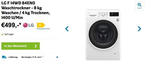 LG F 14WD 84EN0 Waschtrockner - jetzt 17% billiger