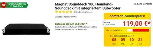 Magnat Sounddeck 100 Heimkino-Sounddeck mit integriertem Subwoofer, Bluetooth - jetzt 25% billiger
