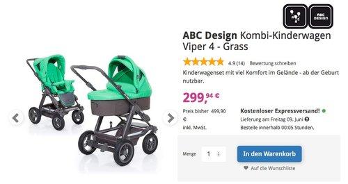 ABC Design Kombi-Kinderwagen Viper 4 - jetzt 25% billiger