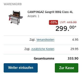 CAMPINGAZ Gasgrill BBQ Class 4L - jetzt 10% billiger