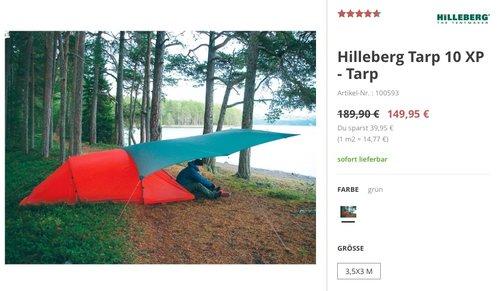 Hilleberg Tarp 10 XP - jetzt 21% billiger