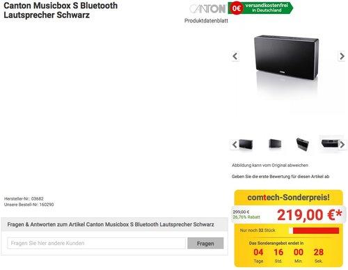 Canton Musicbox S Bluetooth Lautsprecher Schwarz - jetzt 12% billiger