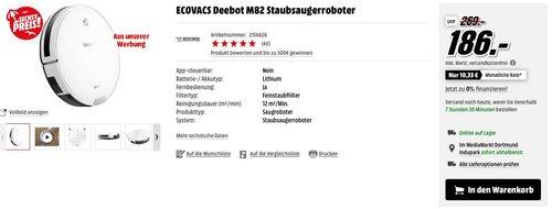 ECOVACS Deebot M82 Staubsaugerroboter - jetzt 28% billiger