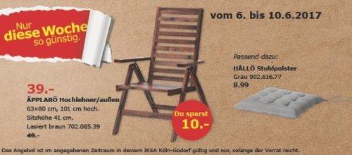 IKEA ÄPPLARÖ Hochfeiner, für außen geeignet, 63x80 cm, 101 cm hoch, braun lasiert - jetzt 20% billiger
