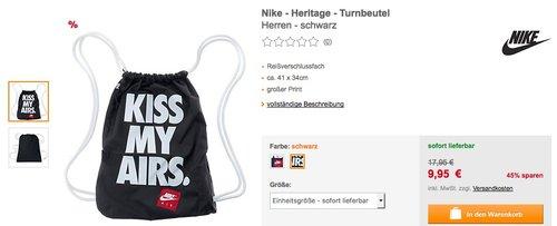 NIKE - Heritage - Turnbeutel  Kiss my Airs - jetzt 45% billiger