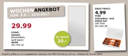 IKEA STAVE Spiegel Eicheneffekt, 70x160 cm, weiß lasiert - jetzt 40% billiger