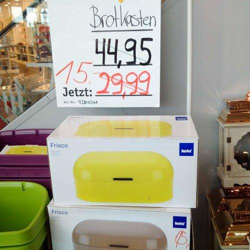 Kela 11168 Brotkasten, Glänzendes Metall, 44 x 21,5, Höhe: 22 cm, Frisco - jetzt 50% billiger