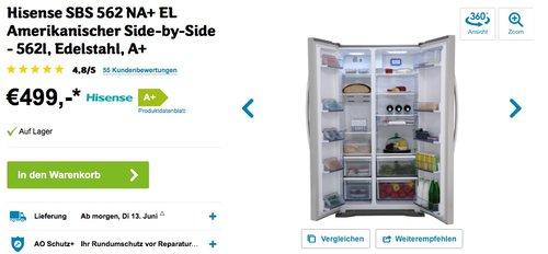 Hisense SBS 562 NA+ EL - jetzt 32% billiger