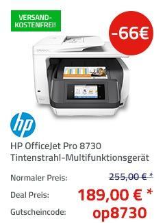 HP OfficeJet Pro 8730 A4 Multifunktionsdrucker - jetzt 26% billiger