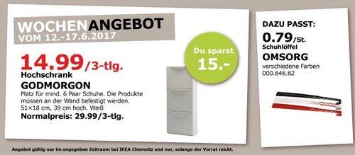 IKEA GODMORGON Hochschrank, 51x18 cm, 39 cm hoch, weiß - jetzt 50% billiger