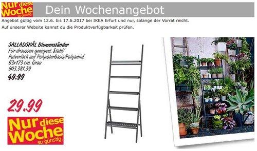 IKEA SALLADSKAL Blumenständer, 63x173 cm, grau - jetzt 40% billiger