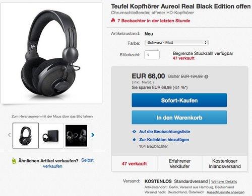 Teufel Aureol Real offener Over-Ear-Kopfhörer Black Edition - jetzt 34% billiger