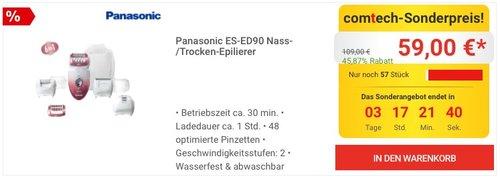 Panasonic ES-ED90 Nass-/Trocken-Epilierer - jetzt 16% billiger