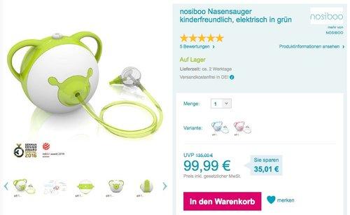 Nosiboo, der kinderfreundliche Nasensauger - jetzt 21% billiger