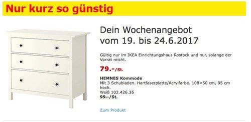 IKEA HEMNES Kommode mit 3 Schubladen, 108×50 cm, 95 cm hoch, weiß - jetzt 20% billiger