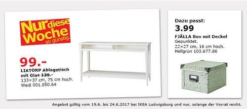 IKEA LIATORP Ablagetisch mit Glas, 133x37 cm, 75 cm hoch, weiß - jetzt 29% billiger