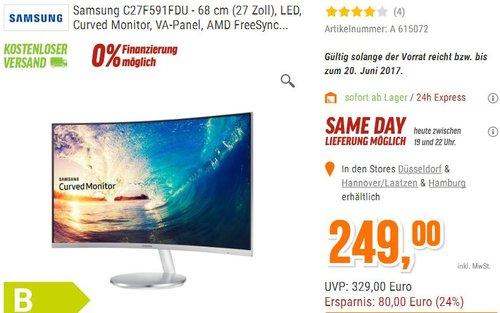 Samsung C27F591FDU 27 Zoll,Curved Monitor - jetzt 13% billiger