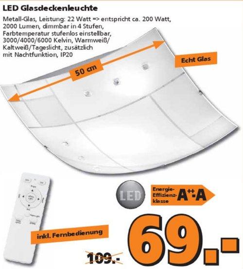 Briloner Leuchten LED Deckenleuchte AGILED weiss, 22 W, eckig - jetzt 37% billiger