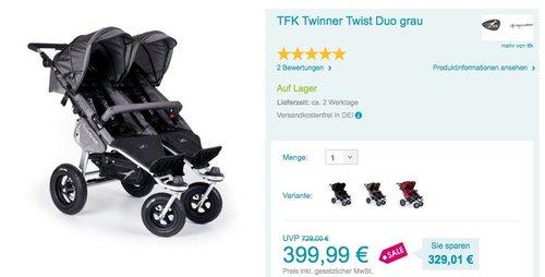 TFK Twinner Twist Duo grau - jetzt 33% billiger