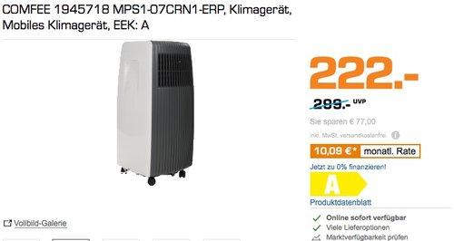 Comfee mobiles Klimagerät MPS1-07CRN1-ERP - jetzt 26% billiger