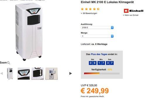 Einhell MK 2100 E Klimagerät - jetzt 16% billiger