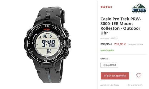 Casio Herren-Armbanduhr Pro Trek PRW-3000-1ER - jetzt 5% billiger