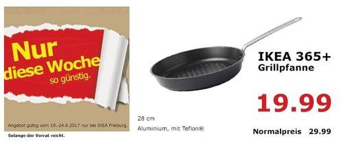 IKEA 365+ Grillpfanne, 28 cm, Aluminium mit Teflon - jetzt 33% billiger