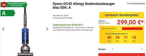 Dyson DC42 Allergy Bodenstaubsauger - jetzt 25% billiger
