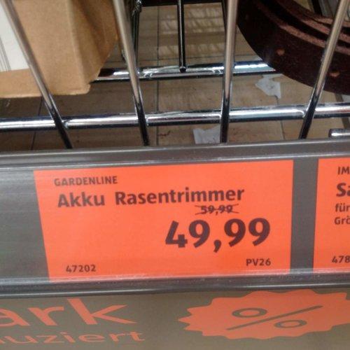 GARDENLINE Akku-Rasentrimmer - jetzt 17% billiger