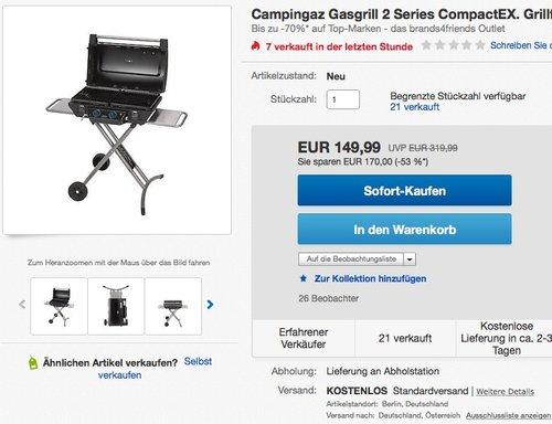 Gasgrill Campingaz 2 Series Compact EX - jetzt -104% billiger