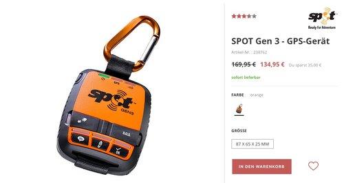 SPOT 3 Satelliten-Messenger GPS-Gerät - jetzt 18% billiger