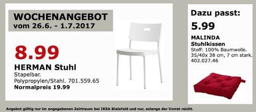 IKEA HERMAN Stuhl, stapelbar - jetzt 55% billiger