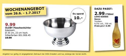 IKEA OLEBY Flaschenkühler, Edelstahl - jetzt 50% billiger
