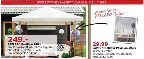 IKEA ÄPPLARÖ Pavillon, 300x300 cm, 275 cm hoch - jetzt 17% billiger