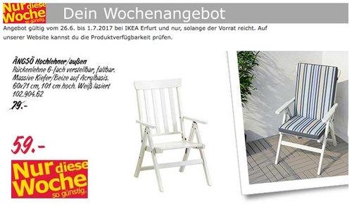 IKEA ÄNGSÖ Hochlehner/außen, weiß, faltbar - jetzt 25% billiger