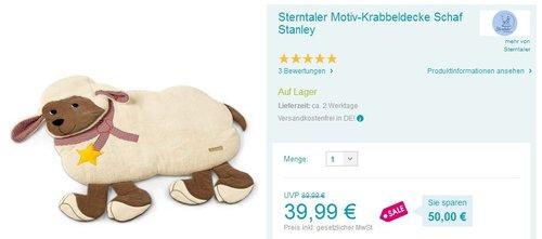 Sterntaler Motiv-Krabbeldecke Stanley - jetzt 18% billiger