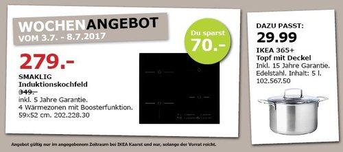IKEA SMAKLING Induktionsherd, 4 Wärmezonen mit Boosterfunktion - jetzt 20% billiger