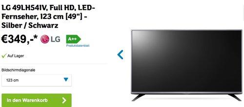 LG 49LH541V 123 cm (49 Zoll) Full HD LCD-Fernseher - jetzt 13% billiger