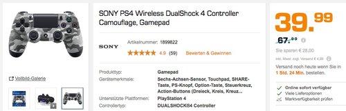 PlayStation 4 - DualShock 4 Wireless Controller, camouflage - jetzt 24% billiger