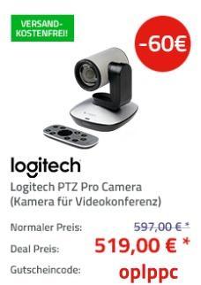 Logitech PTZ Pro Kamera (1080p) Videokonferenzsystem - jetzt 10% billiger