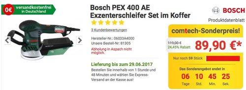 Bosch PEX 400 AE Exzenterschleifer im Koffer - jetzt 7% billiger