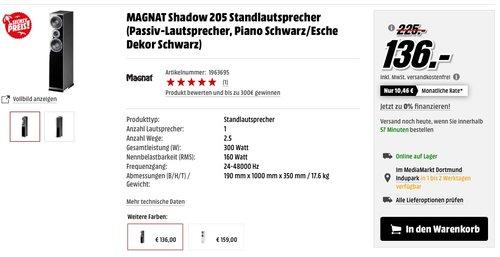 Magnat Shadow 205 Standlautsprecher - jetzt 20% billiger