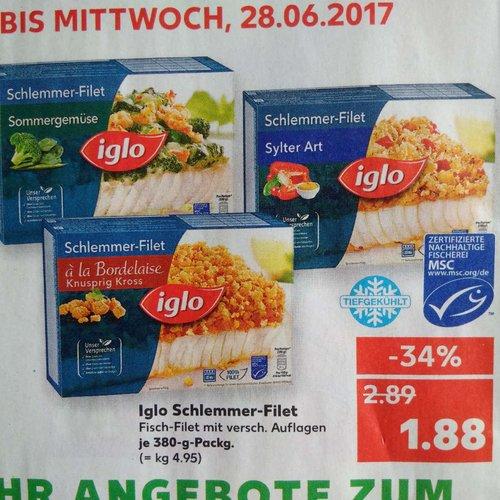 Iglo Schlemmer-Filet, versch. Sorten, je 380g - jetzt 35% billiger