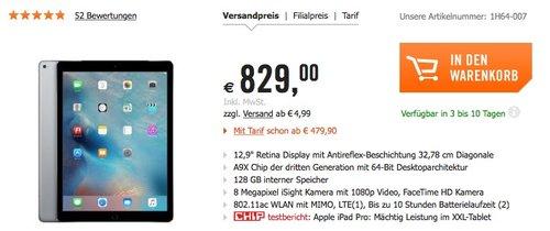 """Apple iPad Pro 12,9"""" 2015 Wi-Fi + Cellular 128 GB - jetzt 15% billiger"""