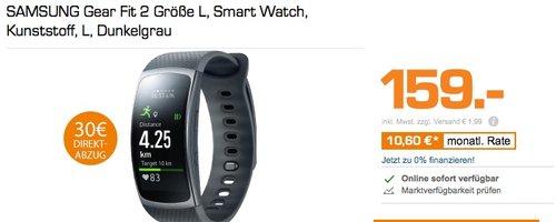 Samsung Gear Fit 2 Smartwatch - jetzt 13% billiger