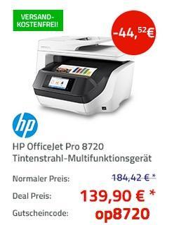 HP OfficeJet Pro 8720 Tintenstrahl-Multifunktionsgerät - jetzt 24% billiger