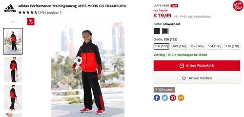 a7f016950 adidas Performance KInder-Trainingsanzug »PES MID3S CB TRACKSUIT« - jetzt  21% billiger