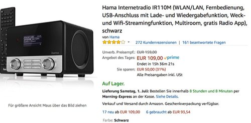 Hama Internetradio IR110M - jetzt 18% billiger
